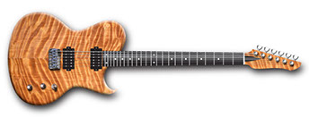 Redwood electric guitar