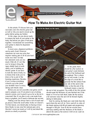 How To Make An Electric Guitar Nut
