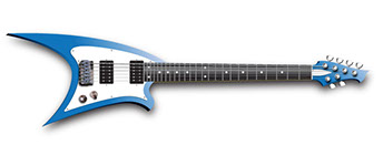 Blue electric guitar